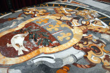 Coat-of-Arms of Pope Innocent X (1644-1655) on the floor of St. Peter's Basilica