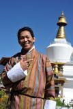 Dennis in his new Bhutanese goh