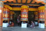 Hall of large prayer wheels, National Memorial Choeten, Thimphu