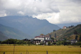 Paro comes into view, dominated by its fortress-monastery