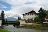 The Rinpung Dzong was built ca. 1645 on the site of an older monastery