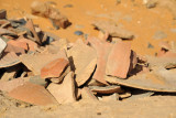 Centuries-old pottery shards, Old Dongola
