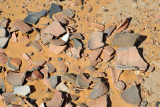 Medieval pottery shards just lying around the monastery