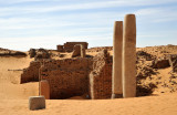 Stone pillars still standing in Old Dongola