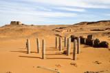 10 pillars remain standing in the 7th C. Church of Granite Columns