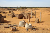 The ruins of Old Dongola near the banks of the Nile