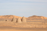 Beehive tombs (Nawamis) common in Northern Sudan