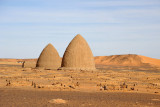 Our guide told us that the beehive tombs dated from the Islamic-era of Old Dongola (post-14th Century)