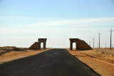Gates along the North Sudan Highway south of (New) Dongola