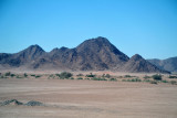 Arid ountains with a little bit of green
