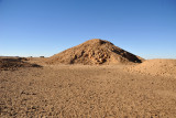 The poorly preserved remains largest pyramid at El Kurru