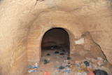 Again, there is little inside the burial chamber other than trash