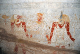 Queen Qalhata being led by two gods, Hapy and Duamutef, sons of Horus