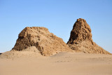 The pyramids of Nuri exist in varying states of decay