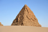 The Pyramids of Nuri are larger than those at Jebel Barkal, but much smaller than those in Egypt