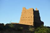 Decaying mudbrick watchtowerFertile strip along the East Bank of the Nile between El Kurru and Karima