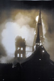 Marienkirche in flames, Palm Sunday, March 28-29, 1942