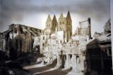 Destruction of the Marienkirche during World War II, 1942