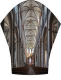 Panoramic stitch of the Marienkirche interior