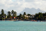 The mountains of central Mauritius from Grand Baie