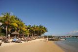 Beach at La Mauricia Hotel, Grand Baie