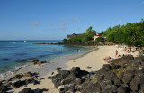 La Cuvette Beach with the Royal Palm Hotel, Grand Baie