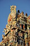 Detail of the Hindu temple gate, Grand Baie