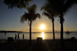 Sunset from off the west coast of Mauritius from La Plantation Hotel, Balaclava