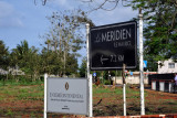 Signs for the Intercontinental and Le Meridien at the Balaclava junction