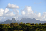 The mountains of Central Mauritius from Balaclava