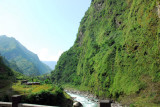 A bridge across the river in the narrow Kodari Valley