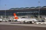 The terminal at Hyderabad's new Rajiv Gandhi International Airport
