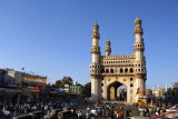 Hyderabad's famous landmark, the Charminar, marks the heart of the old city
