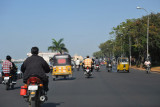 Tankbund Road along the shore of Hussain Sagar headed to Secunderabad