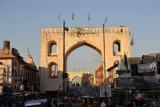 Gates along Pathergati Road in the heart of Hyderabad's bazaar