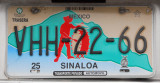 Mexican License Plate - Sinaloa