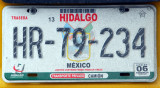 Mexican License Plate - Hidalgo