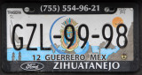 Mexican License Plate - Guerrero