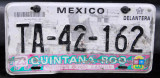 Mexican License Plate - Qintana Roo