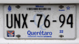 Mexican License Plate - Querétaro