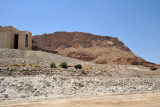 The new visitor's center at the base of the eastern face of Masada