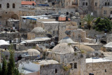 Roofs of the Old City punctuated with satellite dish antennas