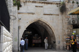 Archway at the southern end of Muristan Road, Christian Quarter
