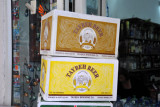 Cases of Taybeh Beer, brewed in Ramallah, West Bank-Palestine