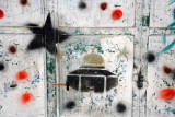 Graffiti with the Dome of the Rock in the Muslim Quarter, Bab al-Silsila Street