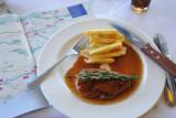 Ostrich filet at Jemim's in Oudtshoorn