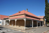 Stone house with a red tin roof, Hoog St, Oudtshoorn