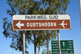 Sign for Oudtshoorn Airport