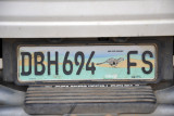 Free State Province License Plate, South Africa