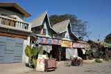 Shop with a double peaked roof near the Mingun Ferry, Mandalay